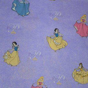 Purple Disney Princess Fabric 1 YD